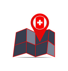 Swiss map icon isolated with country flags vector