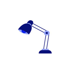 table reading-lamp for education or work isolated vector image