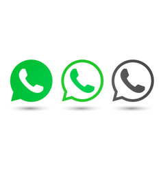 Telephone icon in speechbubble set vector