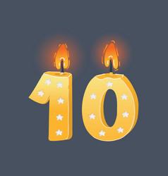 tenth birthday cake vector image