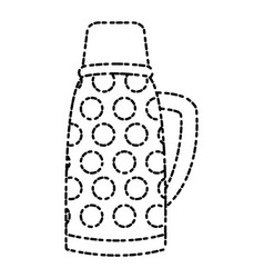 thermo drink bottle vector image