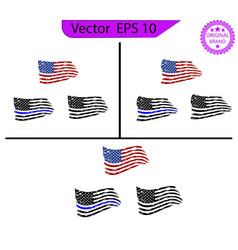 Usa flag distressed american flag commercial use vector