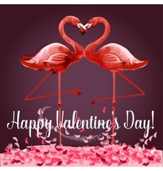 Valentine Day greeting card or poster design vector