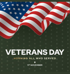 veterans day poster national army and soldier vector image