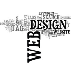 web design with a difference text word cloud vector image