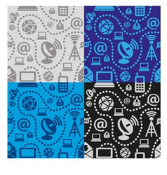 Web technology seamless pattern vector