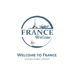 Welcome to France sign vector
