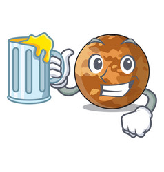 with juice plenet mercury shape in the character vector image