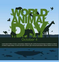 world animal day image vector image