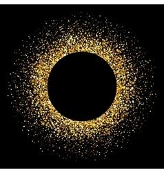 Confetti gold flare Glitter background vector image