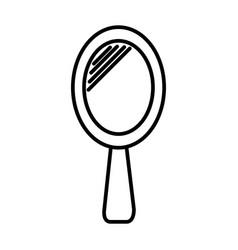 hand mirror line icon sign vector image