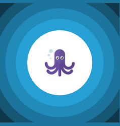 Isolated octopus flat icon tentacle vector