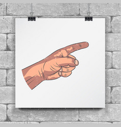 Set of realistic hands - gestures hand painted vector
