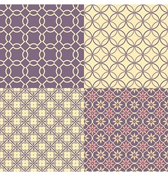Seamless abstract patterns vector image vector image