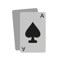 ace of spades icon image vector image vector image