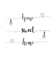 hand-drawn home sweet home proverb vector image vector image