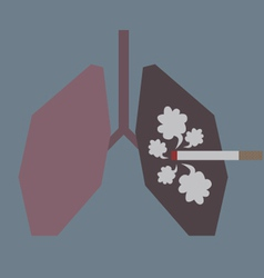 Lungs with Smoke vector image