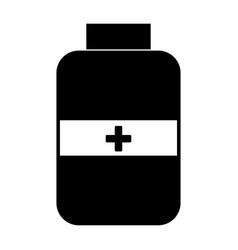 Medicine bottle the black color icon vector