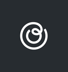modern professional sign logo letter o vector image