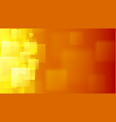 orange abstract background of blurry squares vector image