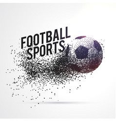 particles forming football shape sports background vector image
