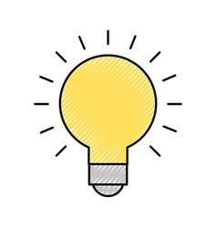 bulb idea on vector image