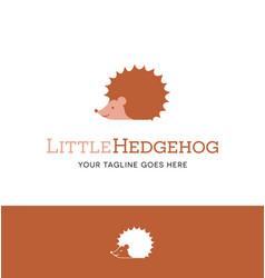 cute hedgehog logo vector image vector image