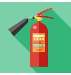 flat fire extinguisher vector image