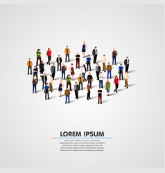 people crowd background vector image