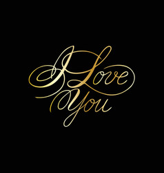 phrase i love you cursive font with swirls vector image vector image