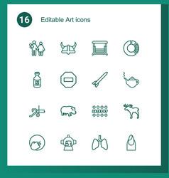 16 art icons vector