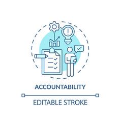 Accountability blue concept icon vector