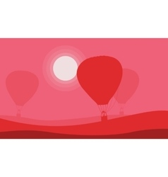 Air balloon background for valentine day vector