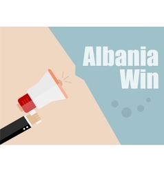 Albania win Flat design business vector