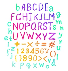 alphabet Hand drawn letters Letters vector image