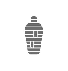 Ancient egyptian mummy grey icon isolated vector