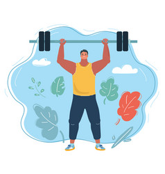 Athlete male weightlifter vector