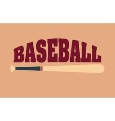baseball sport bat vector image
