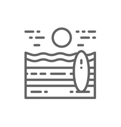 beach landscape line icon vector image