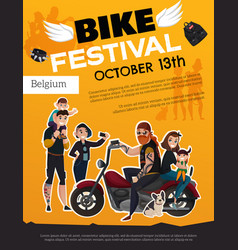 Bike festival subcultures poster vector