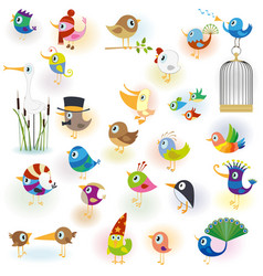 Birds set14 vector image