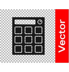 Black drum machine music producer equipment icon vector