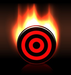 Blazing glossy target goal plate vector image