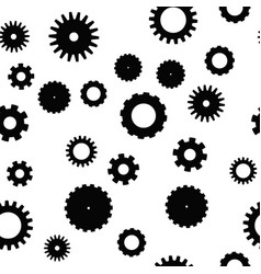 cog wheel seamless pattern clockwork vector image