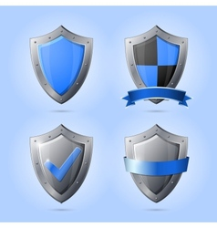 collection shield emblems vector image