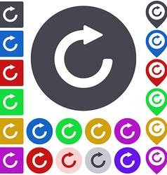 Color refresh icon set vector