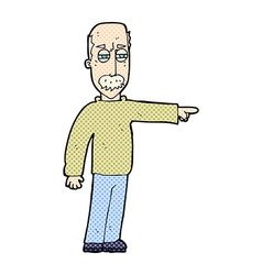 comic cartoon old man gesturing Get Out vector image vector image