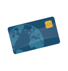 credit card plastic business bank paying vector image