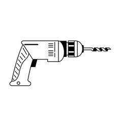 Drill construction tool vector