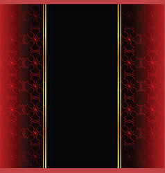 Elegant wallpaper with golden fine decoration and vector